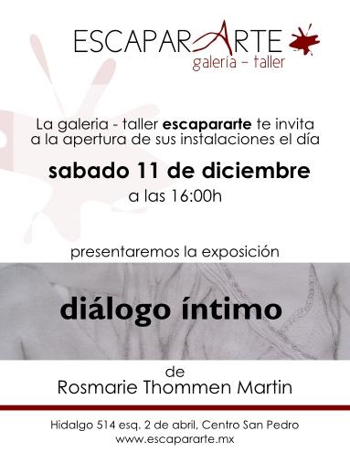 Invitación a la Inauguración de la Galería-Taller ESCAPARARTE