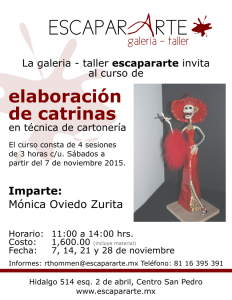 TALLER DE CATRINAS
